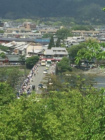 法輪寺から見た渡月橋_H28.5.4撮影