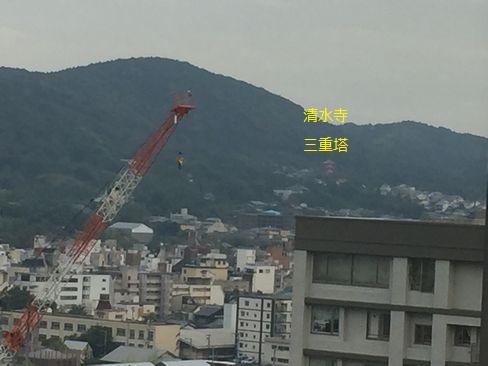 ホテルオークラ京都・室内から清水寺方面_H28.06.30撮影