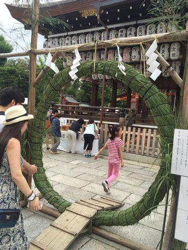 八坂神社・茅の輪_H28.06.30撮影