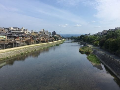四条大橋から鴨川_H28.07.24撮影