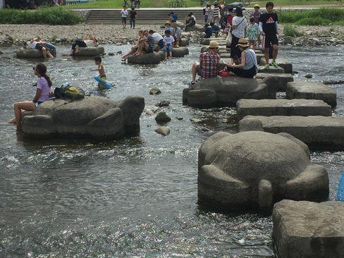 鴨川の飛び石_H28.07.24撮影