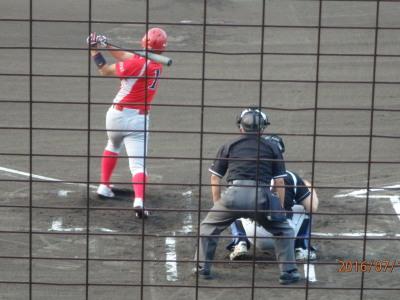 P7152571 トウヤ三番4回表中越え二塁打を放つ