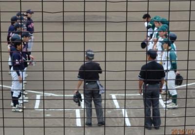 P7282695 一塁側花園クラブ 三塁側コスギ