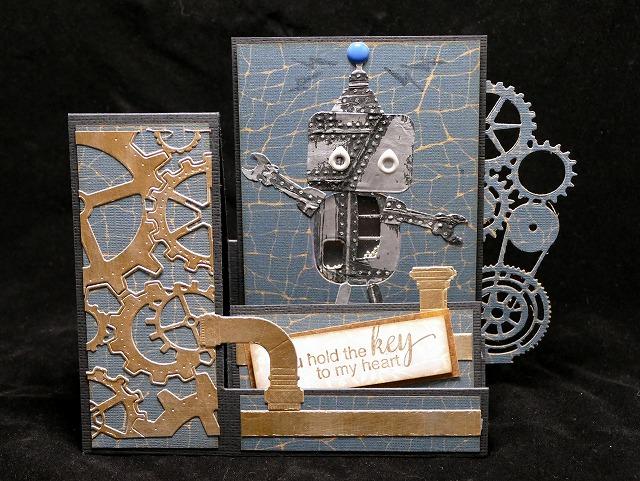 Creation #2 for March「ロボットのサイドステップシェイカーカード」