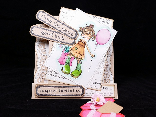 Saturated Canary Saturday Birthday Party Side step card