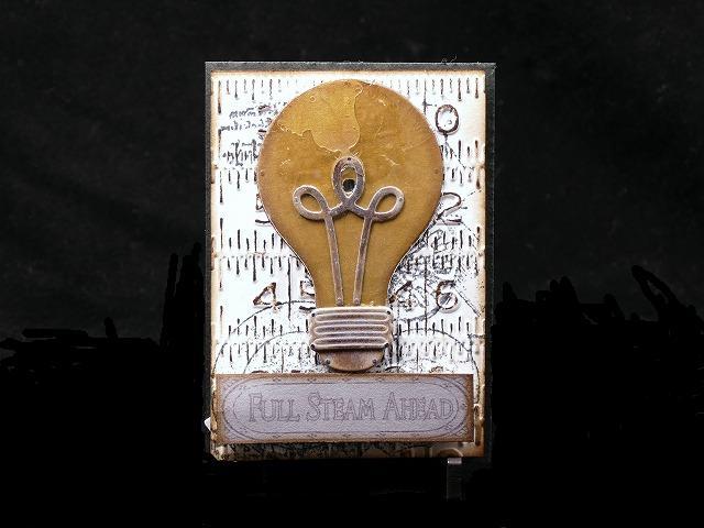 steampunk Light up Artisttradingcard