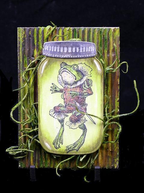 Frog bottling Artisttradingcard