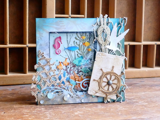Sea Window box card