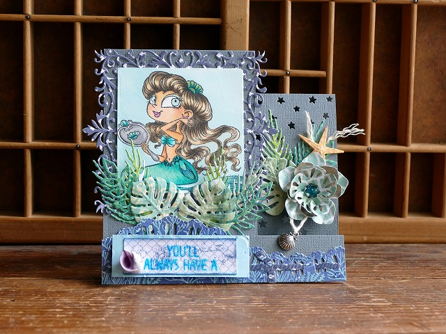 Kraftin' Kimmie Stamps Treena Twinkles Side Step Card
