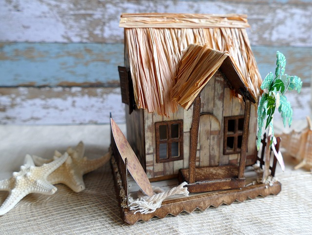 Beach house using Village Dwelling by Tim Holtz