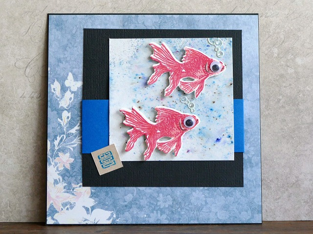 Hero Arts Color Layering Goldfish Cardmaking