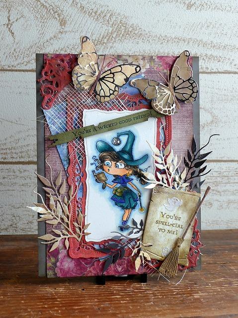 Kraftin' Kimmie Stamps-Witch Willa-Halloween card