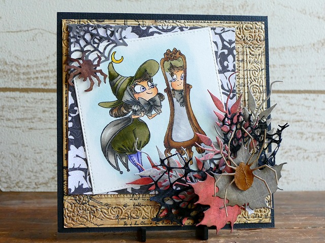 Kraftin' Kimmie Stamps - Witch Willa Halloween card