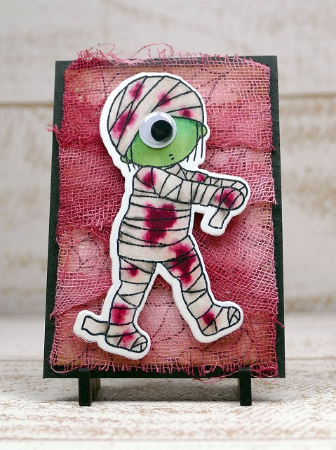 My Favorite Things - Halloween - Mummy Artisttradingcard
