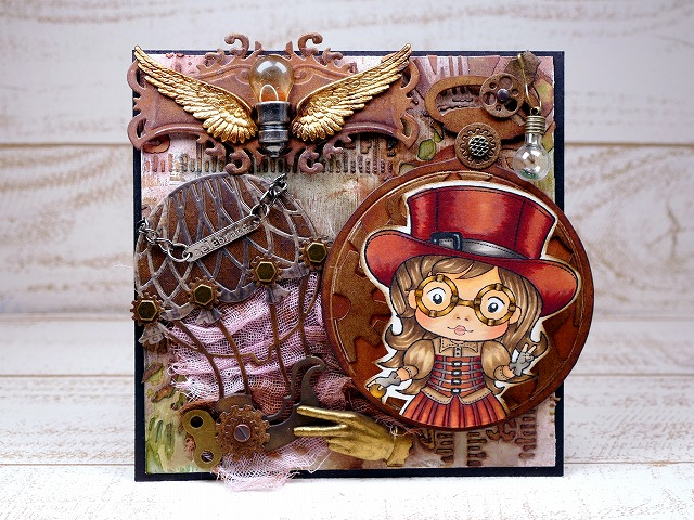 La-La Land Crafts - Top Hat Steampunk Marci Steampunk Celebrate Card