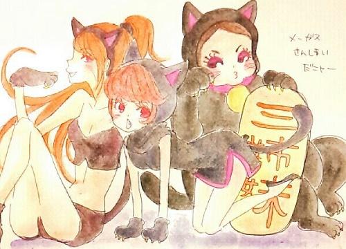 ハロウィン黒猫コス