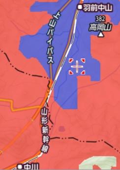羽前中山〜中川のY!mobileエリア