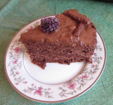 チョコレートケーキを作りました