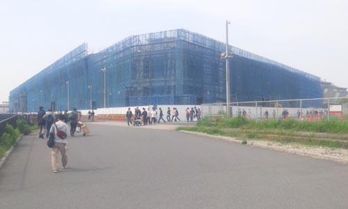 東京ビックサイト東館 拡張工事 外側