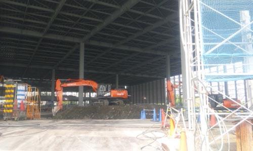 東京ビックサイト東館 拡張工事 内側