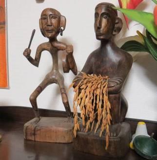 イフガオの彫り物ライスゴッド