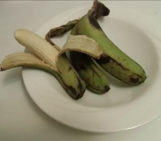 バナナ緑の皮