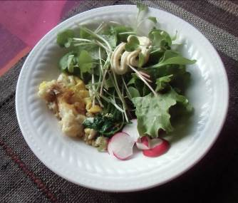 野菜を先に生野菜サラダ