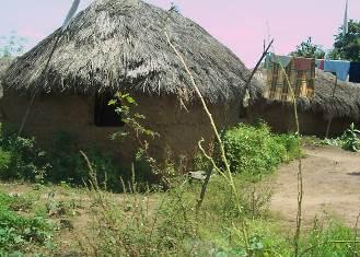 ベナン国田舎の家