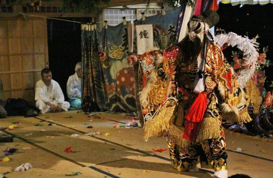 川小田神楽団 鐘馗5