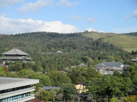 奈良県庁屋上からの眺め・東大寺方面