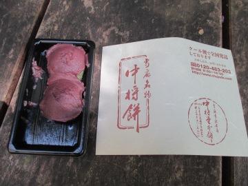 駅前で買った名物・中将餅