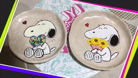 スヌーピー皿1to2