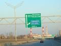 高速道路で市内へ