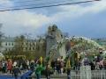 マルクス像がある革命広場