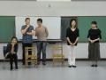 オープニング(左より、ディー夫人、ブラーゴ先生、通訳・上世博及氏、コーディネーター・野﨑美子、手話通訳)