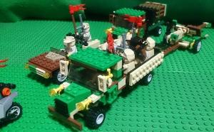輸送中の滑腔対戦車砲