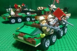 烈巣号に跨乗する兵士たち