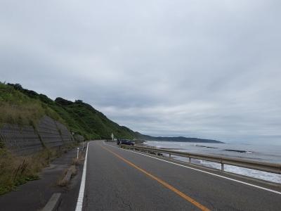 寺泊近傍の海岸線