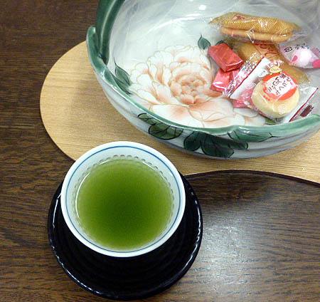 陶あん菓子器 日本茶