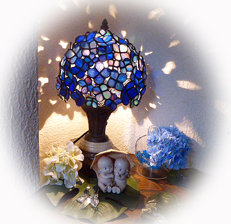 ニッチ紫陽花ランプ