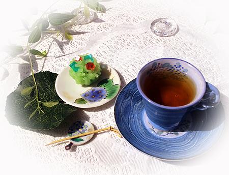 和菓子紫陽花
