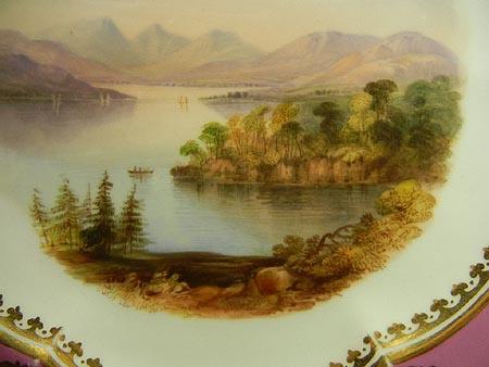 サイズ変更カトリン湖の風景画