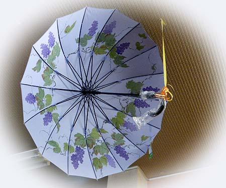 いなぐまさん 葡萄日傘