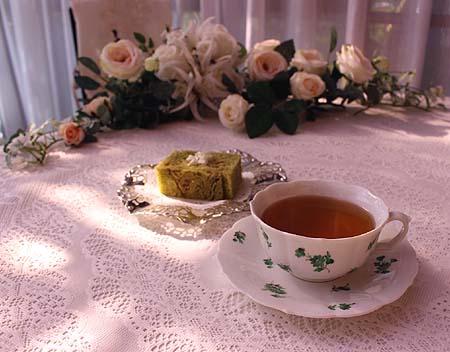 抹茶デニッシュ&アッサム