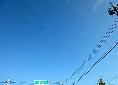 朝から青空