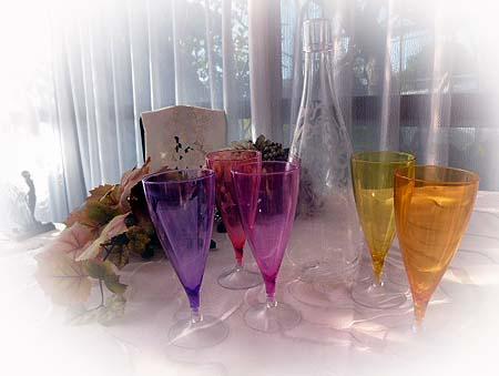 ボトルグラス・カラフル