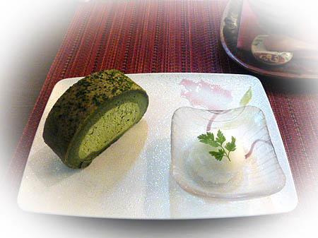 あしび抹茶ロ-ル&柚子シャ-ベット