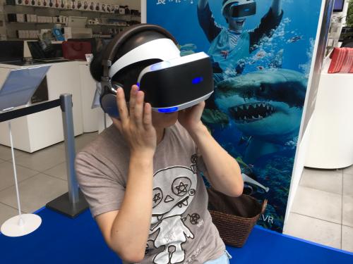 PSVR体験会 ソニーストア名古屋にサメ出没!食われるかと思った-29