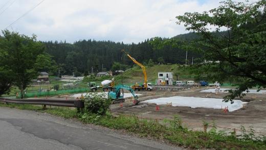 村営住宅建設始まる2