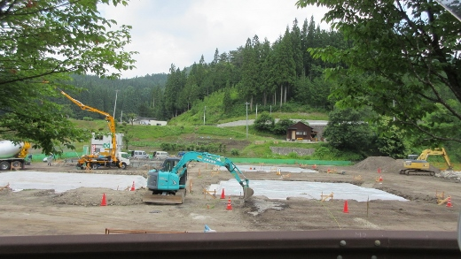 村営住宅建設始まる